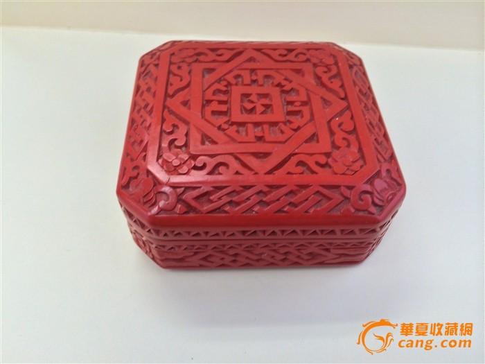 剔红八棱漆盒-图3