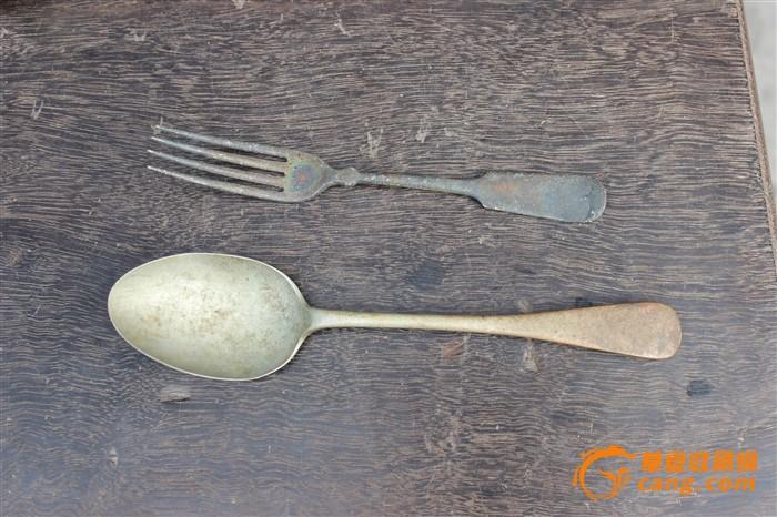 老白铜勺子 叉子 汤勺