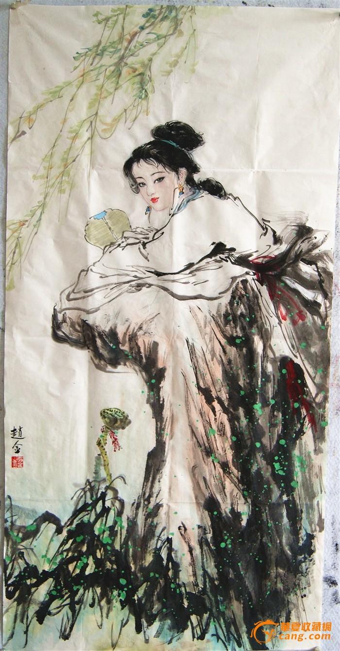 西安中国画院画家,刘文西研究生--赵金精品