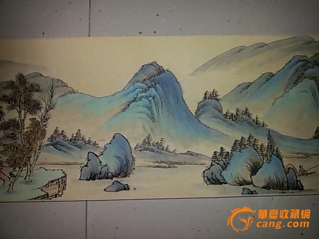 青绿山水长卷图片
