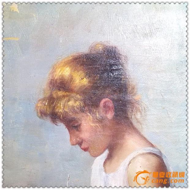 画工非常精美的手绘人物肖像旧油画