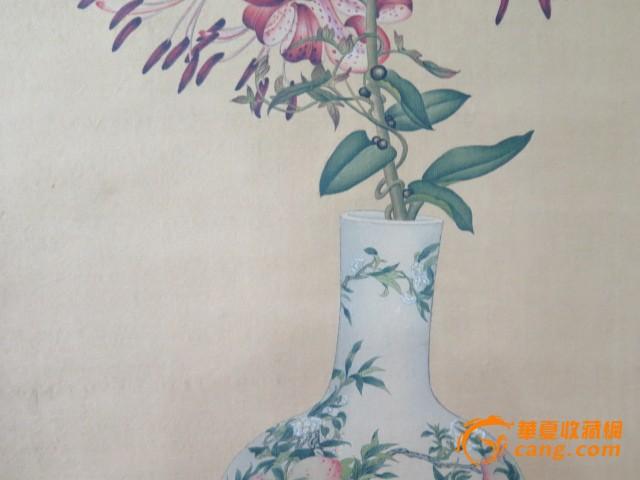 郎世宁花瓶花卉