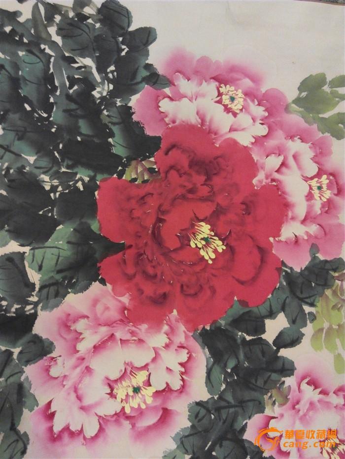 一朵手绘牡丹花竖屏 壁纸