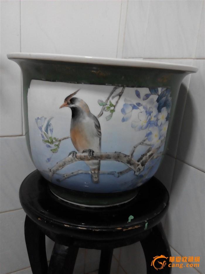 全手工彩绘陶瓷花盆图片