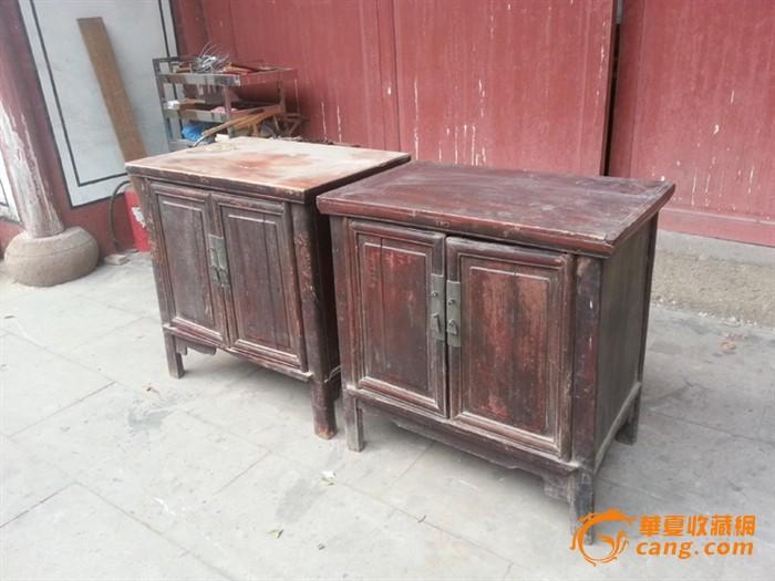 【江啸堂】藏品 古玩 清代明式老柜子1对 书柜 衣柜古董图片