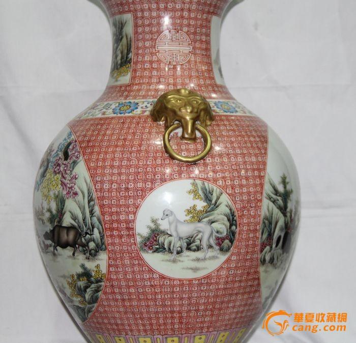 大清乾隆12生肖赏瓶