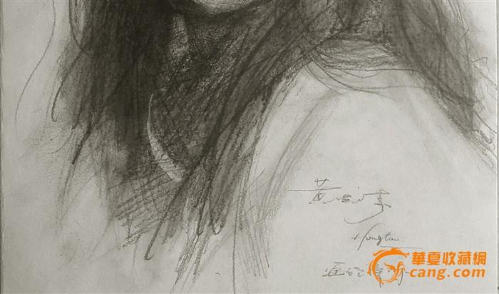 原创手绘素描作品之-可爱的小女孩(画在素描纸上)