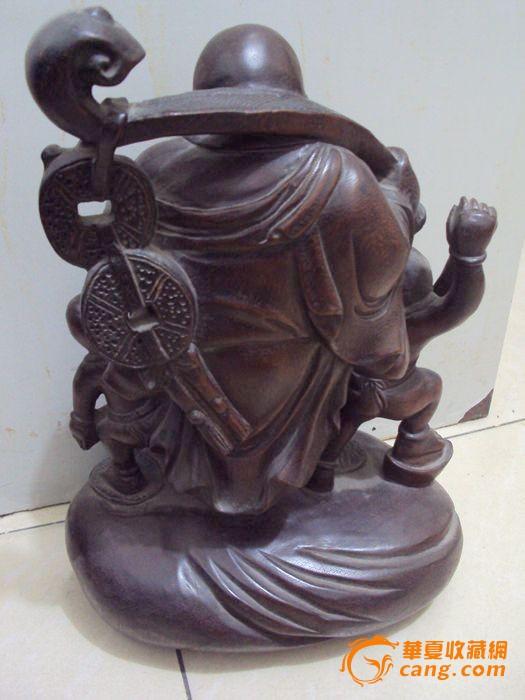 清代紫檀木雕弥勒佛内容|清代紫檀木雕弥勒佛图片