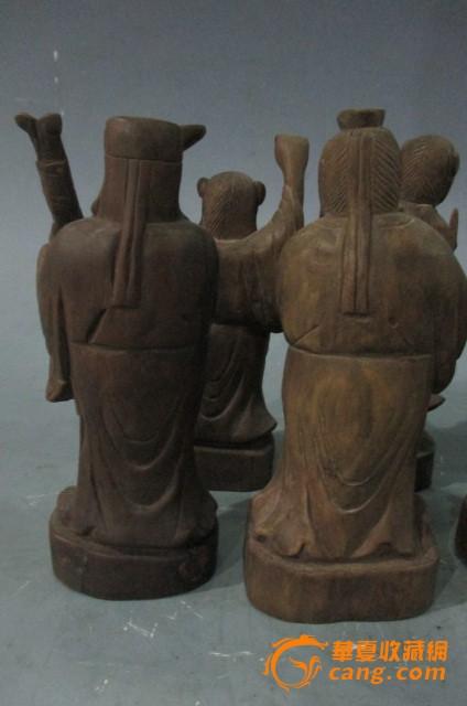 一套木雕八仙过海人物摆件