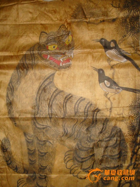 朝鲜老虎画
