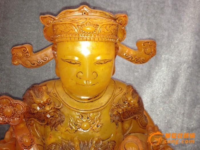 田黄石财神雕像图片