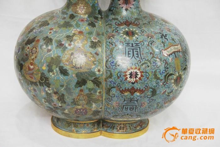 掐丝珐琅彩葫芦瓶