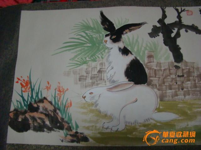 兔子_国画.兔子价格_国画.兔子图片