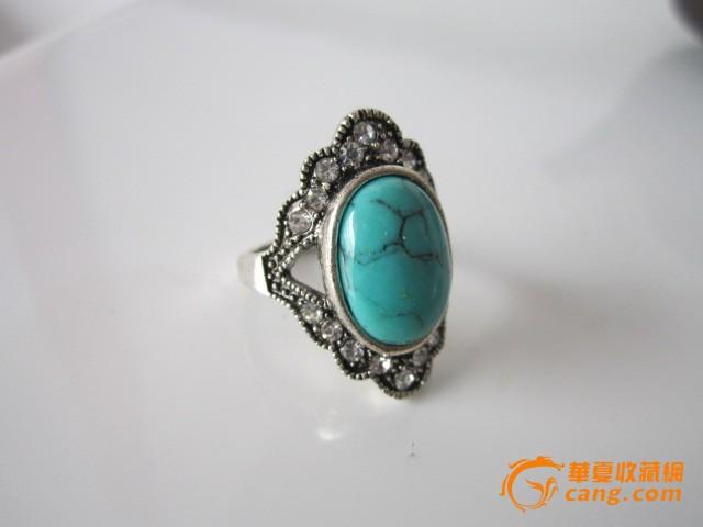 老绿松石戒指图片