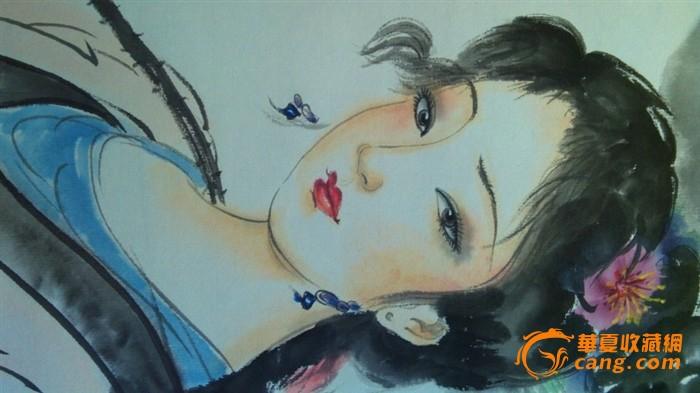 古风采莲美女手绘