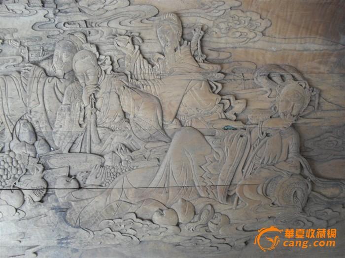 清末民国八仙过海木雕板