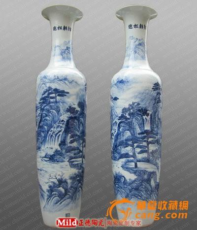 景德镇落地大花瓶 酒店摆设陶瓷大花瓶
