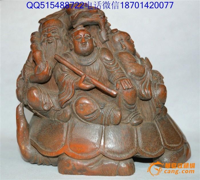 竹雕人物摆件八仙过海竹根雕人物摆件