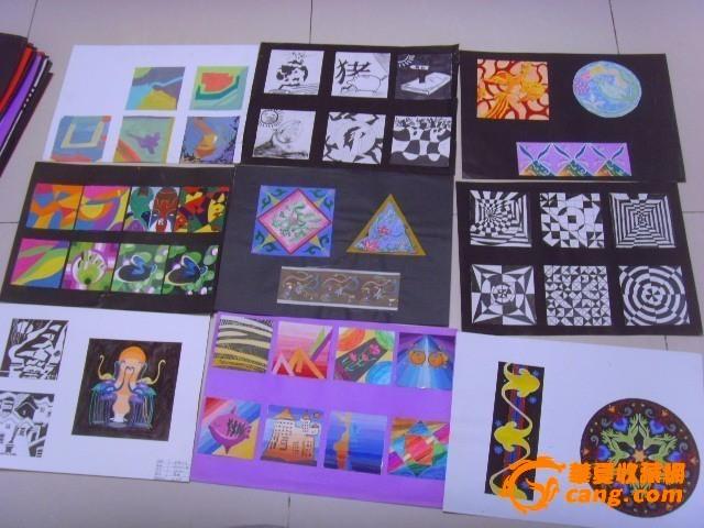 滨州学院美术系学生设计图稿卡纸130张图片