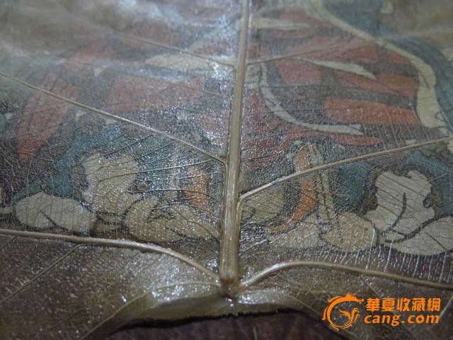 张大千菩提树叶画图7