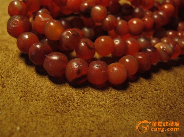 千年红玛瑙老珠子通货老珠子图片