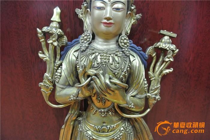 清铜鎏金卓玛佛像
