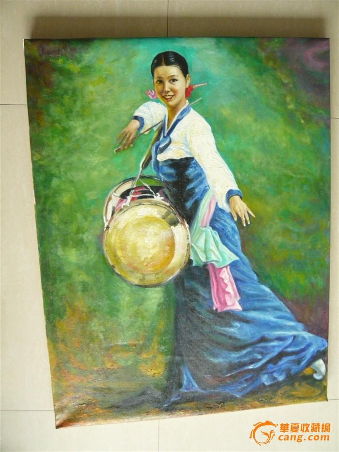 朝鲜手绘人物油画
