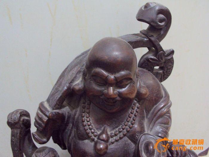 清代的紫檀木雕弥勒佛图片