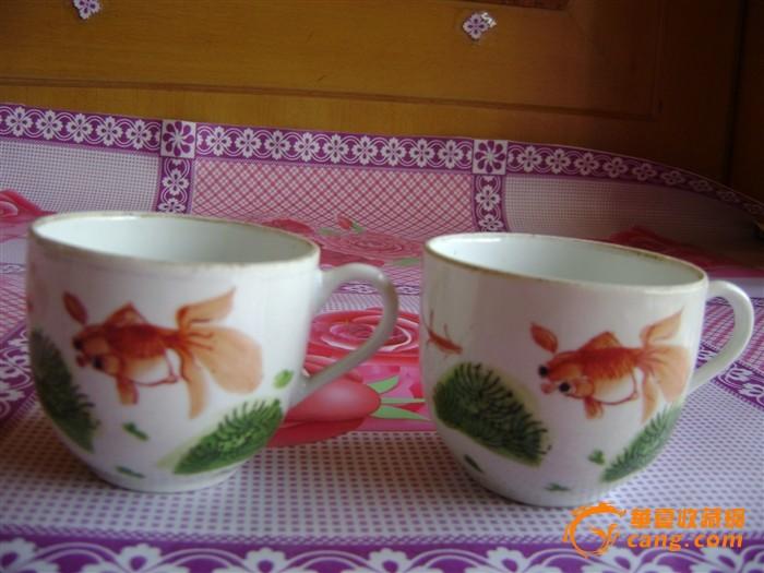 手绘金鱼茶杯