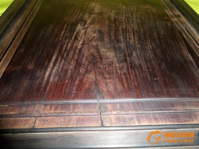 晚清紫檀框老红木大方板