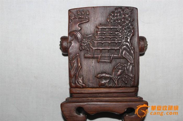 两边圆的雕刻的狮子头,上面有四个插孔,罕见图2