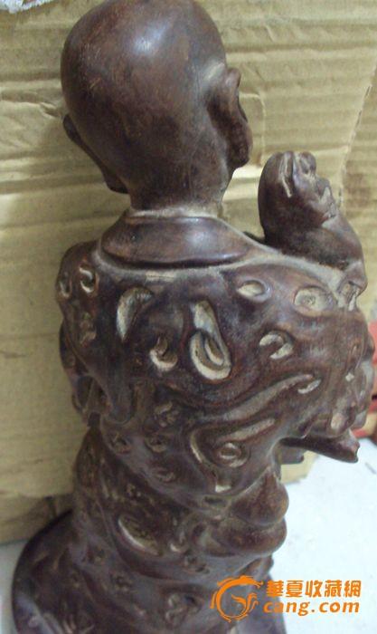 清代的紫檀木雕达摩图片