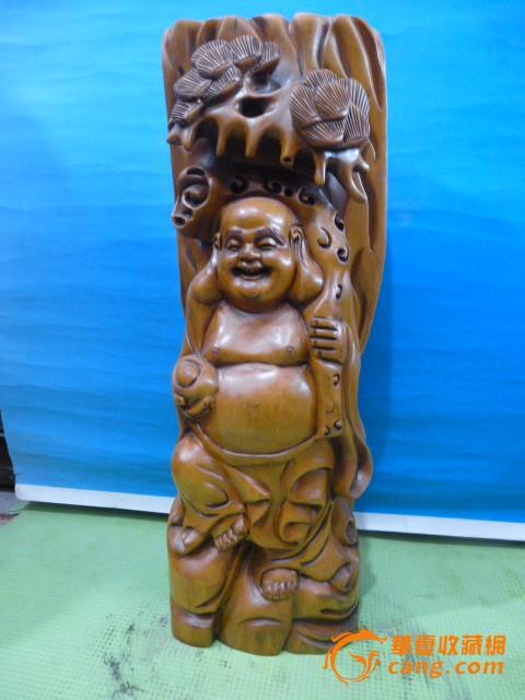 黄杨木财宝弥勒像图1