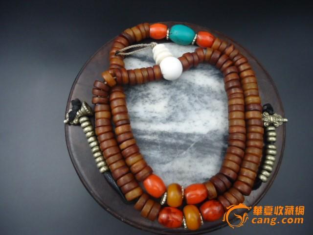 民国藏传嘎巴拉念珠一串
