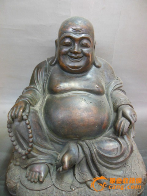 q40610民国-铜佛像-大肚弥勒佛