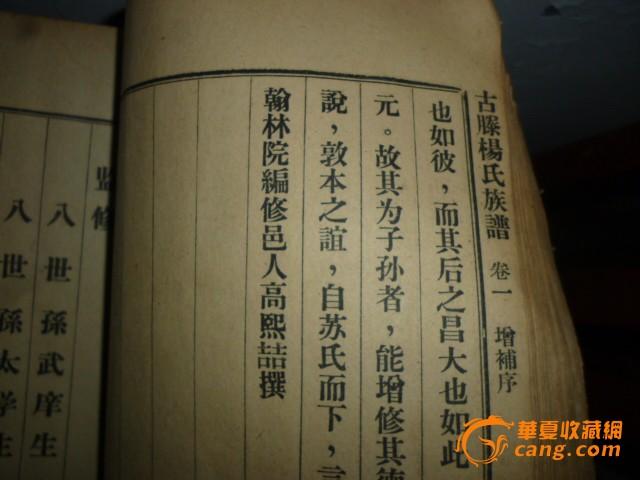 古滕杨氏族谱图片