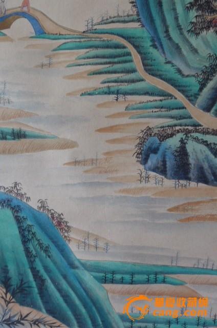 张大千青绿山水图片