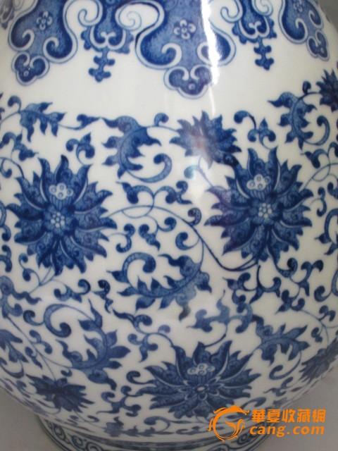 青花花纹胆瓶