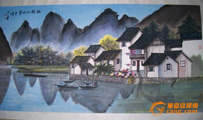 中国当代书画家顾泽之《风景画》尺寸137*70cm 横幅