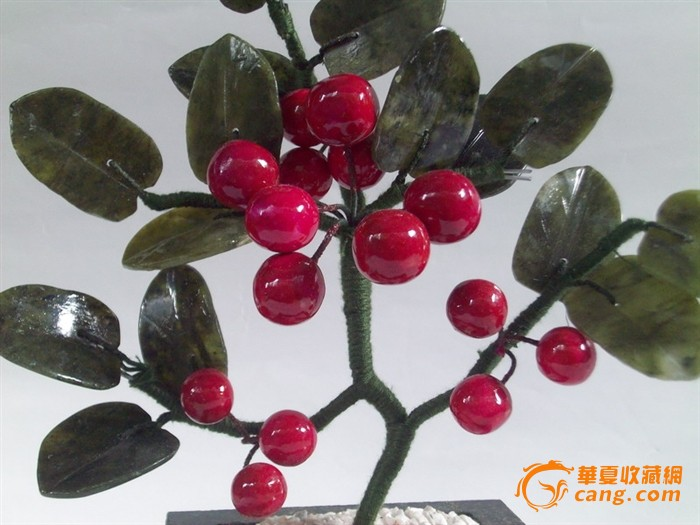 老玉雕—樱桃树(美全品)