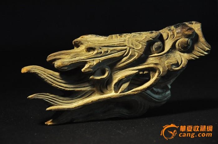 清—— 龙头 木雕
