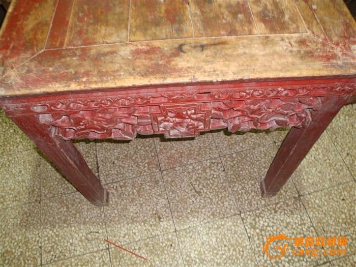 老木雕川工八仙桌子_老木雕川工八仙桌子价格_老木雕