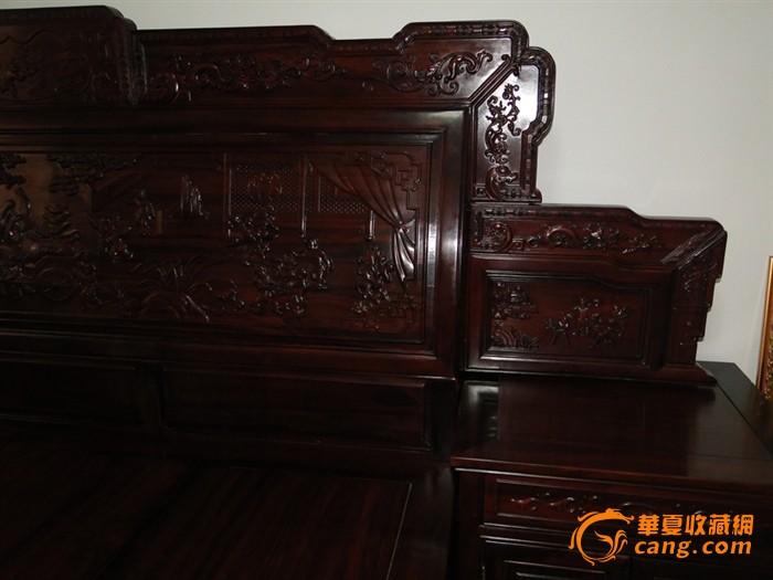 古典家具 红酸枝 现代床
