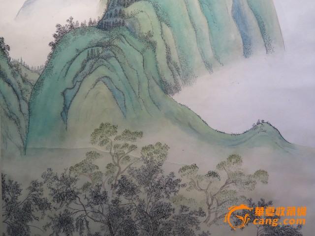 陈少梅人物青山绿水画
