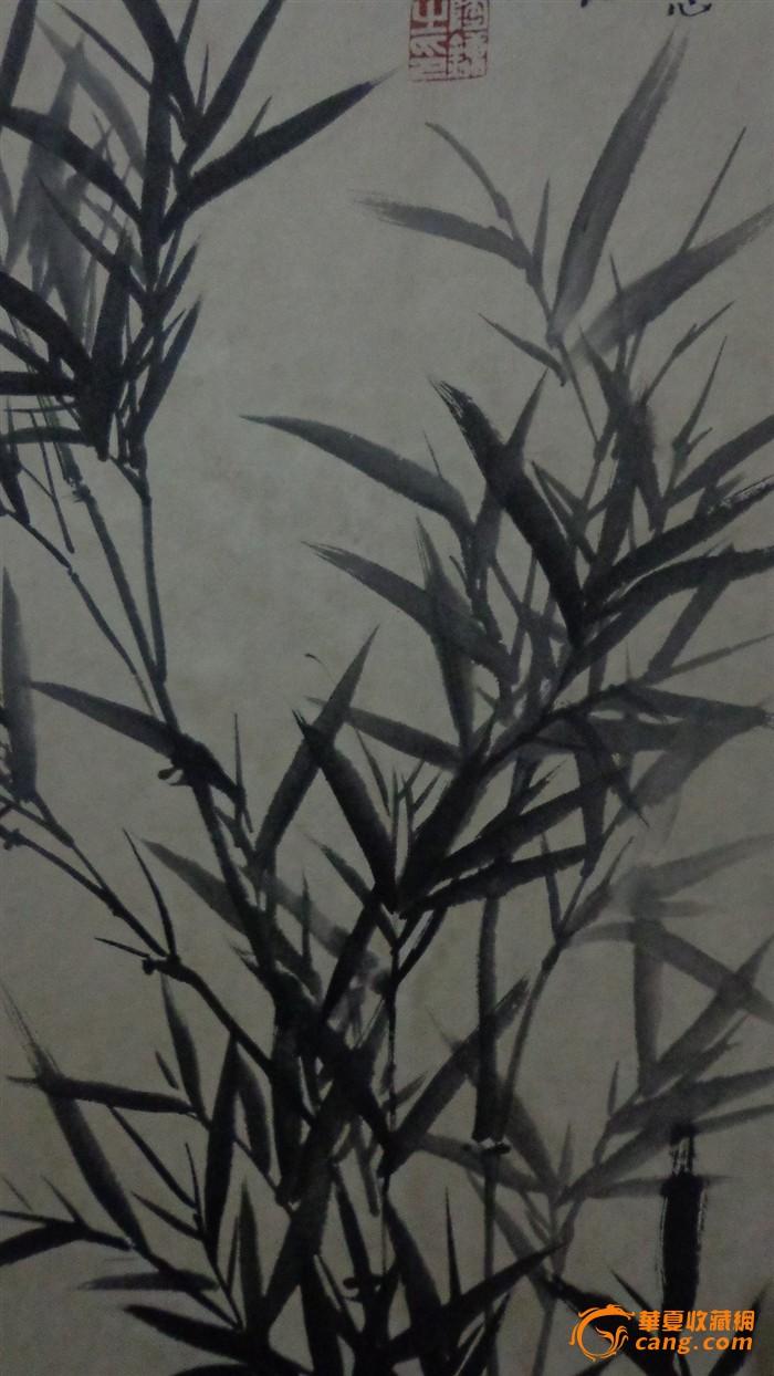 a4纸墨竹背景素材