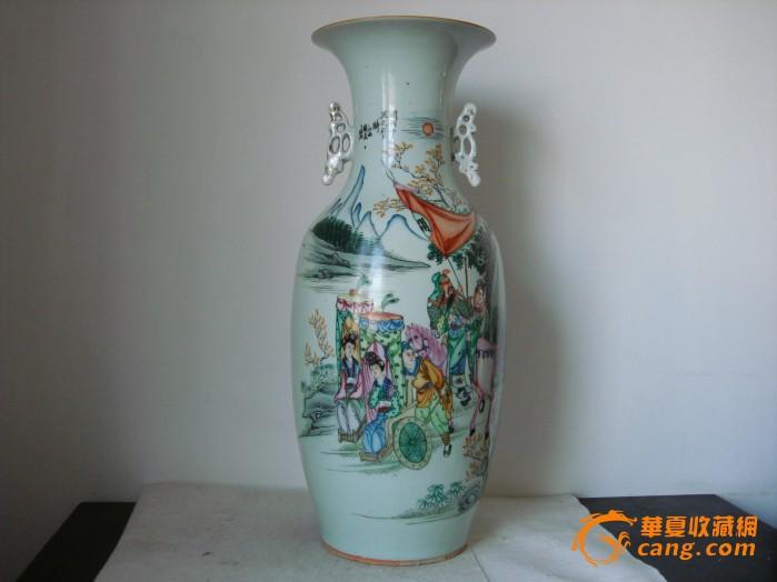 民国名家粉彩三国人物故事【千里走单骑】300件大瓶