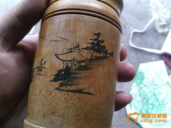 手绘竹子笔筒图3