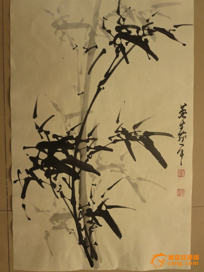 地摊 字画 近现代 > 包邮纯手绘 竹子