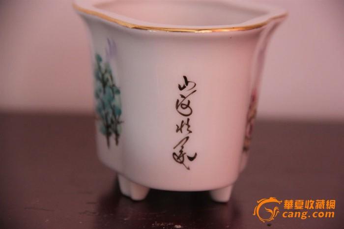 地摊 陶瓷 其它 > 文革手绘花盆