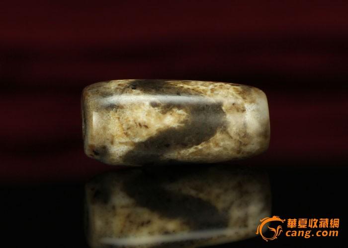 藏传老珠子,天然玛瑙虎纹天珠